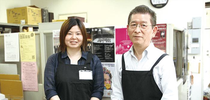 ムジカ テラシマ 社長 寺嶌三徳さん/リペア 林田麻里さん
